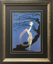 "Erte ""Fireflies"" CUSTOM FRAMED Print Art Deco Design Fancy Classy Classic Decor"