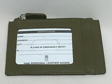 RFID blocking ID credit card protection case 7416 zipper change wallet olive