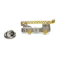 Lorry Mounted Crane LAPEL PIN BADGE Driver Cherry Picker Worker Present Gift Box