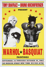 COLOR - ANDY WARHOL and Jean-Michel BASQUIAT - Exhibition Poster Art Print