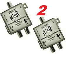 2 X ORIGINAL SW21 MULTI-SWITCH BELL SW-21 LNB EXPRESS VU SATELLITE DISH NETWORK