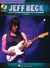 Jeff Beck Guitar Signature Licks JAZZ FUSION Play Guitar TAB Music Book & CD
