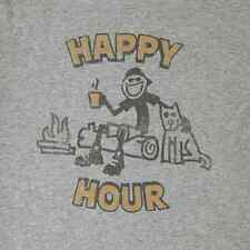 NWT Life is Good Happy Hour Camping w/ Dog Men's Crusher T-Shirt Size Large