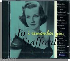 Jo Stafford - I Remember You (1999) - New, Sealed 18 Song British CD!