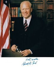Hand Signed 8x10 photo GERALD R FORD - 38th US PRESIDENT + my COA