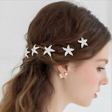 Wedding Bridal Hairpin Jewelry Starfish Crystal Rhinestone Hair Clip Best Gift