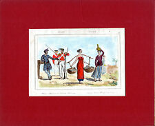 SCARCE COPPERPLATE-SOLDIERS MEET THE  GIRLS IN MALAYA-ORIGINAL COLOURING(c.1830)