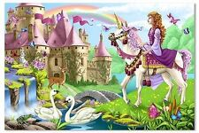 Melissa and Doug Fairytale Castle Floor Jigsaw Puzzle 48 Pieces Game New