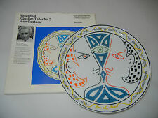 Rosenthal artistes assiette motif 2: Jean Cocteau (LIM. 3554) avec boîte d'origine!