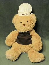 GUND GODIVA CHOCOLATE TAN TEDDY BEAR PLUSH BAKER CHEF 046886 10""