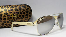 GUESS GU 7151 GLD-6F Ladies Gold Frame Mirror Lens Aviator Sunglasses NEW