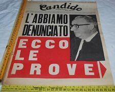 CANDIDO 21 Gennaio 1971 - anno IV - N° 3 - L'ABBIAMO DENUNCIATO ECCO LE PROVE