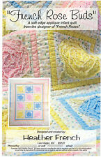 """French Rose Buds by Heather French Easy Soft (Raw) Edge Applique 31"""" by 38"""""""
