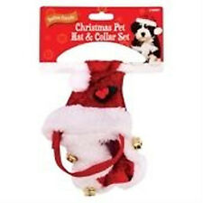 Dog Doggy Puppy Pets Red Xmas Christmas Hat + COLLAR STOKCING FILLER GIFT IDEA