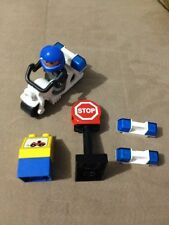 Lego Duplo Brand Lot From Model 3607 Police Motorcycle Minifig Extra Light Stop