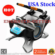 USA Stock - 110V Automatic Double Station Mug Heat Press Machine --Ship in 24h