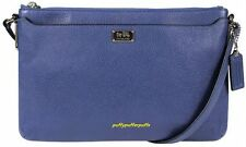 NWT COACH MADISON LEATHER EAST WEST SWINGPACK SILVER LACQUER BLUE F49992