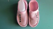 Crocs Women's Pink with Mesh Slip On Loafer Boat Shoes Size 6