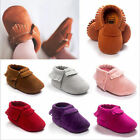 Baby Tassel Suede Leather Shoes Infant Kids Toddler Moccasin Shoes 0-18Months