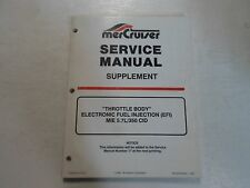 MerCruiser Throttle Body EFI MIE 5.7L 350 CID Service Manual Supplement WATER