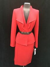 ALBERT NIPON SKIRT SUIT/RED//NWT/SIZE 12/RETAIL$299/LINED/SKIRT LENGTH 22'