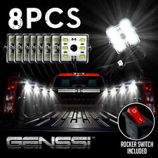 8pc Truck Bed White LED Lighting Light Kit For Chevy Dodge GMC Trucks