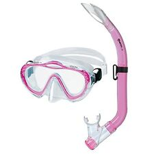 Mares Sharky Diving Mask/Snorkelling Tube Set for Children in Pink