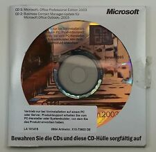 MS Office 2003 Professional Pro versione completa OEM tedesco +++