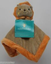Tiddliwinks Orange Tan Safari Lion Snuggle Security Blanket Plush Baby 13X13 in