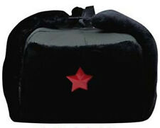 Chinese Russian Army Trooper Winter Hat Ushanka Green Warm Cap Red Star Badge
