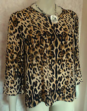PRIMARK LEOPARD PRINT CREPE TOP SIZE 10, 12, 14,16,18,20 SOLD OUT CLEARANCE