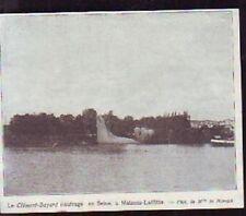 1908  --  LE CLEMENT BAYARD NAUFRAGE EN SEINE A MAISONS LAFFITTE  T699