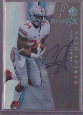 2014 Upper Deck SP Authentic Super F/X Carlos Hyde On Card Auto SSP EX Retro Rc