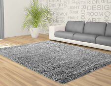 Soft Shaggy Chocolate Beige Red Blue Silver Black Small Large Runner Rug