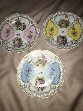 CT Germany Antique Courting Couples 6 Inch Plates Different Colors