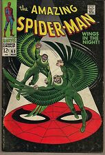 "AMAZING SPIDER-MAN #63 MARVEL 08/68 THE VULTURE ""WINGS IN THE NIGHT"" ROMITA  FN+"