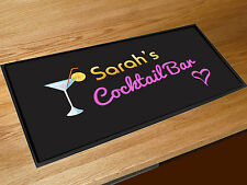 Personalised Any Name Cocktail bar runner counter mat Pubs Clubs & Cocktail Bars