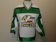 JUNIOR EAGLES #36 SEWN HOCKEY JERSEY K1 SPORTSWEAR WHITE MEN S