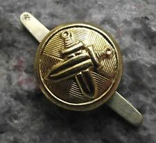 Antique Czechoslovakia Armed Forces Metal Crossed Sword Uniform Buttons 1.5cm
