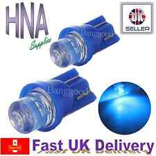 2 x Car LED 501 T10 W5W BLUE XENON Side Light Interior Bulbs Concave UK VW a