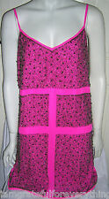 Édition limitée TOPSHOP boutique rose chaud emellished dress uk 14 E42 us 10 rare