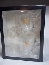 BAILEYS Irish Cream Liquer Glass Coffee Beverage Mug Set Of TWO New In Box