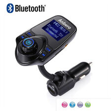 Wireless Bluetooth Handsfree In-Car Kit Music Player Charger FM Transmitter T10