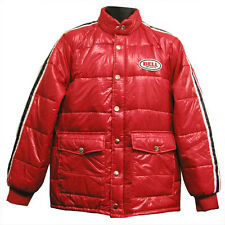 Bell Retro Vintage Puffy Puff Jacket Coat Red Black Adult Men's Large LG L