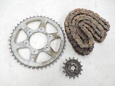 2004 Yamaha Serow XT225 Stock Front & Rear Sprockets w Chain LOW MILES 2K