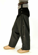 New Wax Cotton Over Trousers Olive Green Classic Country Wear Unisex One Size