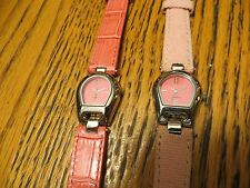 New Old Stock LeJour Lot of 2 SAMPLE DUMMY WATCHES REPAIR PARTS-Pink Bands