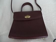 COACH VINTAGE BROWN LEATHER CROSS BODY HAND BAG PURSE Made in Italy