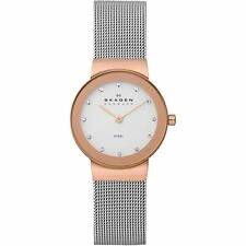 Skagen Ladies Quartz PVD Rose Gold Plated and Stainless Steel Mesh Watch 358SRSC