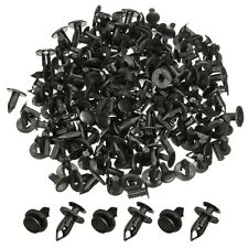 100Pcs 8mm Car Hole Plastic Rivets Bumper Fastener Push Fastener Clip Fender Bla